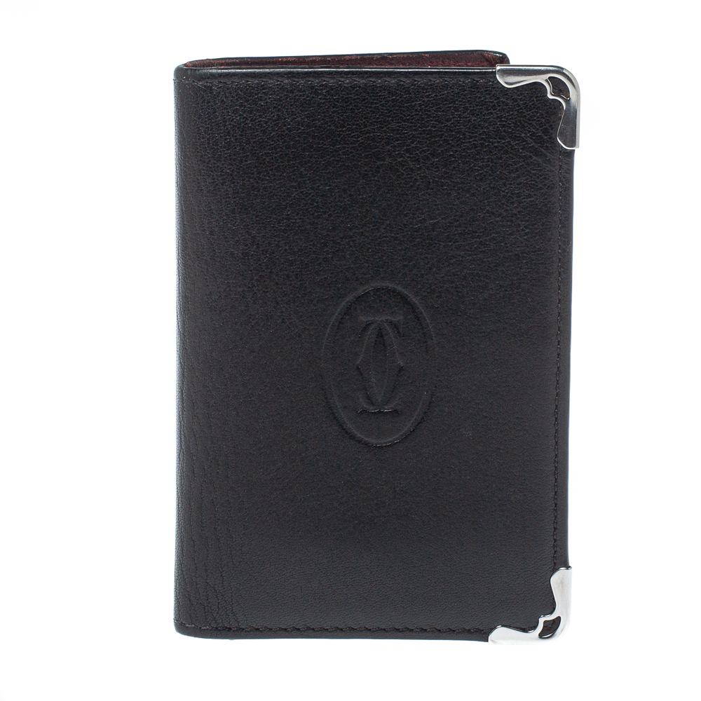 Pre-owned Cartier Card Holder In Black