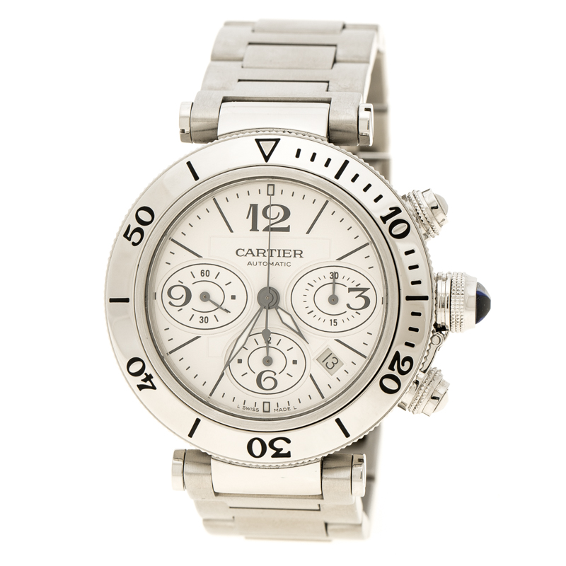 ... Cartier White Stainless Steel Pasha Seatimer Chronograph 2995 Men s  Wristwatch 42MM. nextprev. prevnext 1c37b95e36