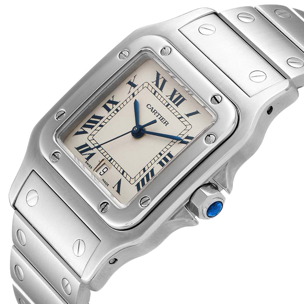 Cartier Silver Stainless Steel Santos Galbee Women's Wristwatch 29 MM  - buy with discount