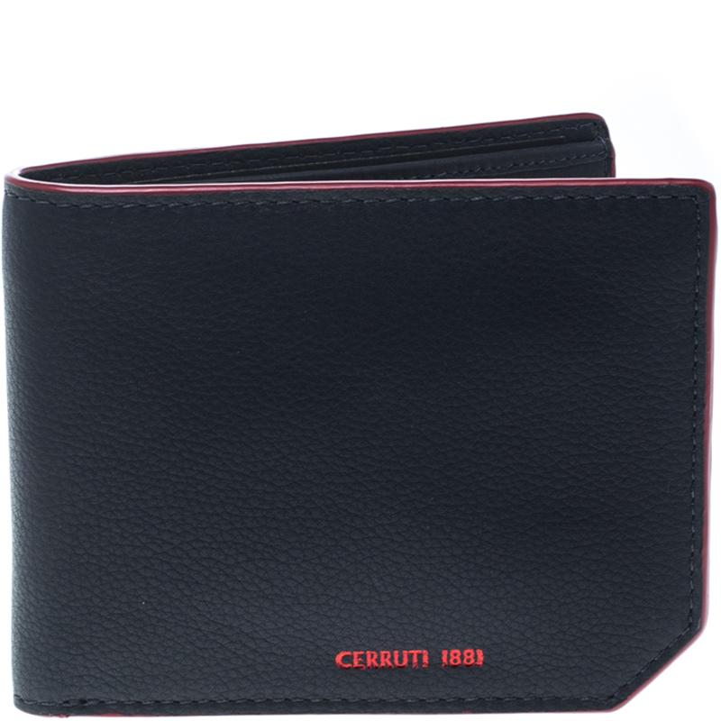 Купить со скидкой Cerruti 1881 Navy Blue Leather Hanoi Bifold Wallet