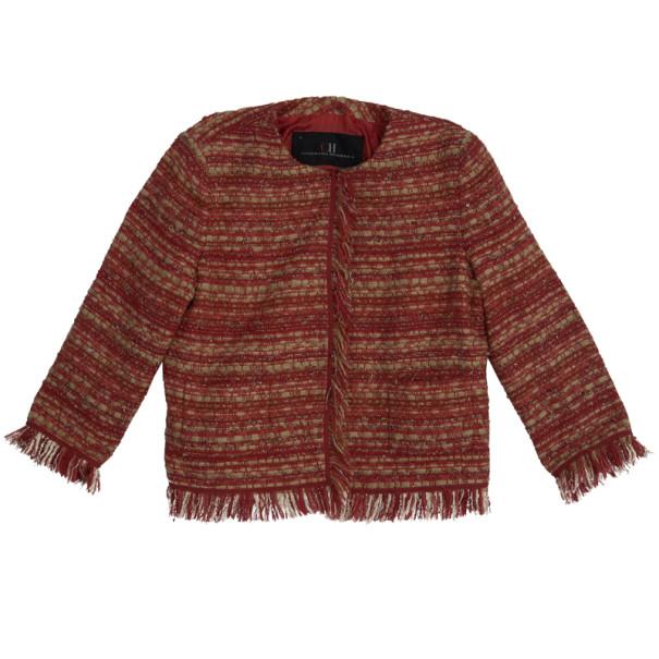 35f1c60699e Buy CH Carolina Herrera Collarless Tweed Jacket L 14356 at best price