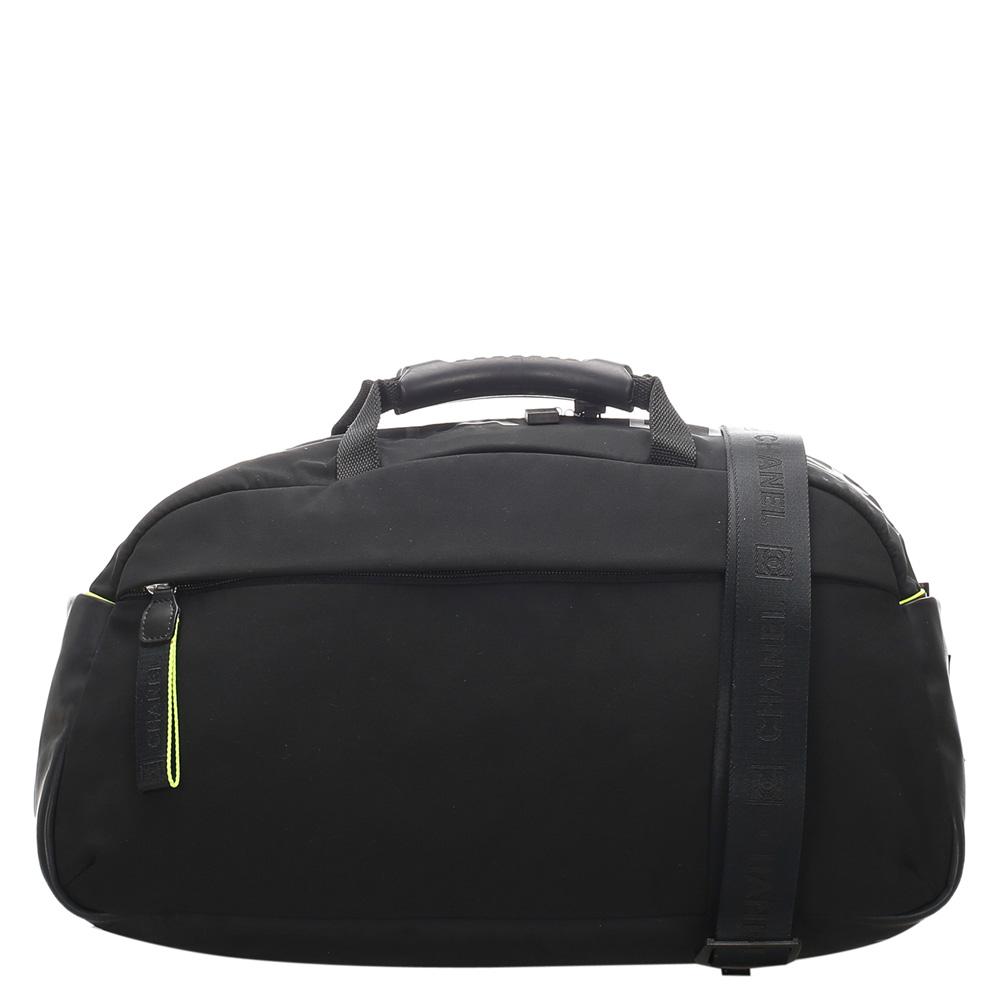 Chanel Black Nylon Sports Line Duffle Bag