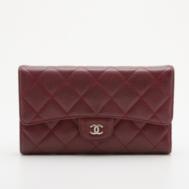 8ae80478a08710 ... Chanel Red Quilted Caviar Leather Trifold Wallet. nextprev. prevnext