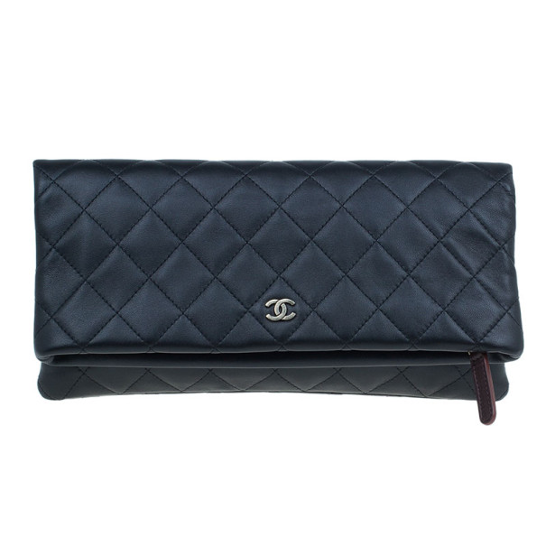 c2ba77ca2a9ef Buy Chanel Black Lambskin Beauty CC Clutch 7279 at best price | TLC