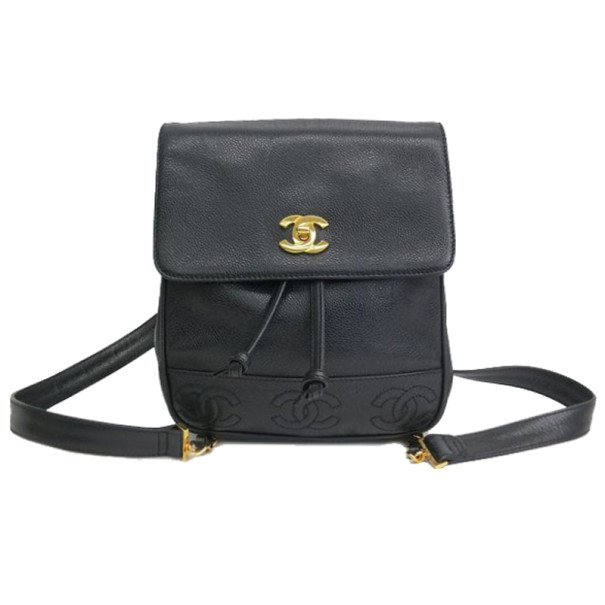 Buy Chanel Black CC Caviar Backpack 13940 at best price  3b0add14f7df9