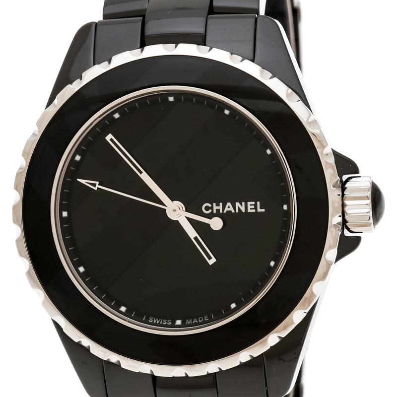 buy popular 0baab adc94 Chanel Black Ceramic J12 Untitled Limited Edition H5581 Women's Wristwatch  38 mm