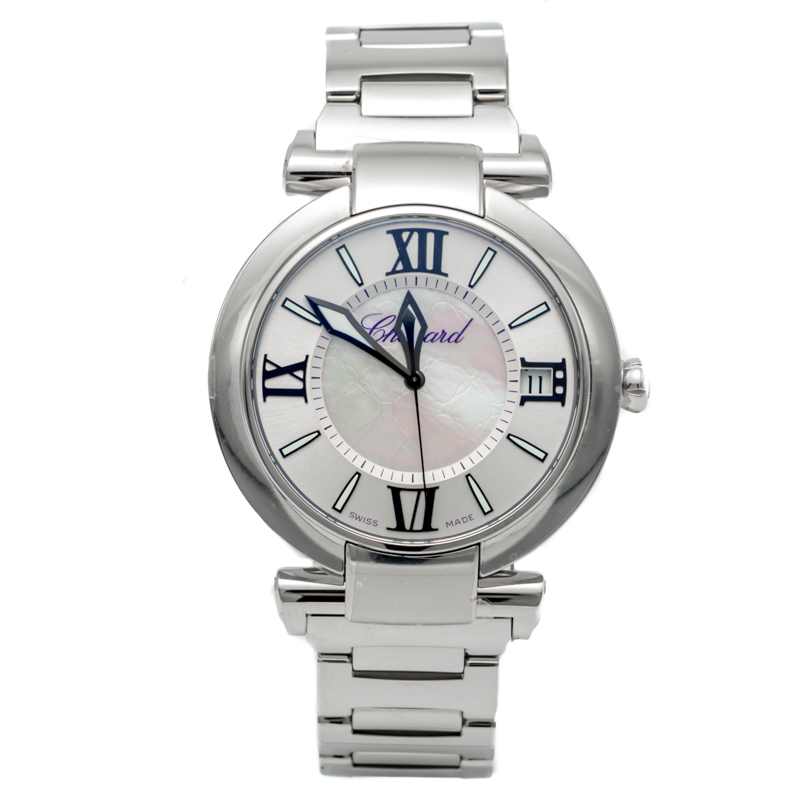 Chopard New White Mother Of Pearl Imperiale Stainless Steel Watch 40MM