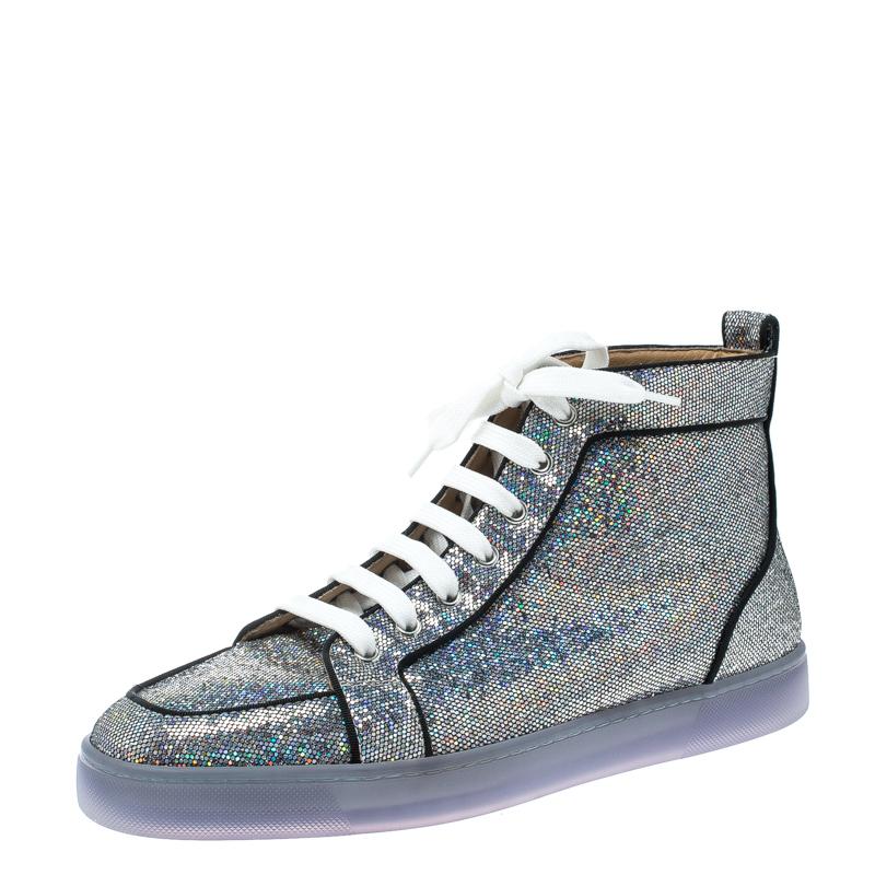brand new a7e58 aa1ff Christian Louboutin Glitter Disco Ball Rantus Orlato High Top Sneakers Size  42.5