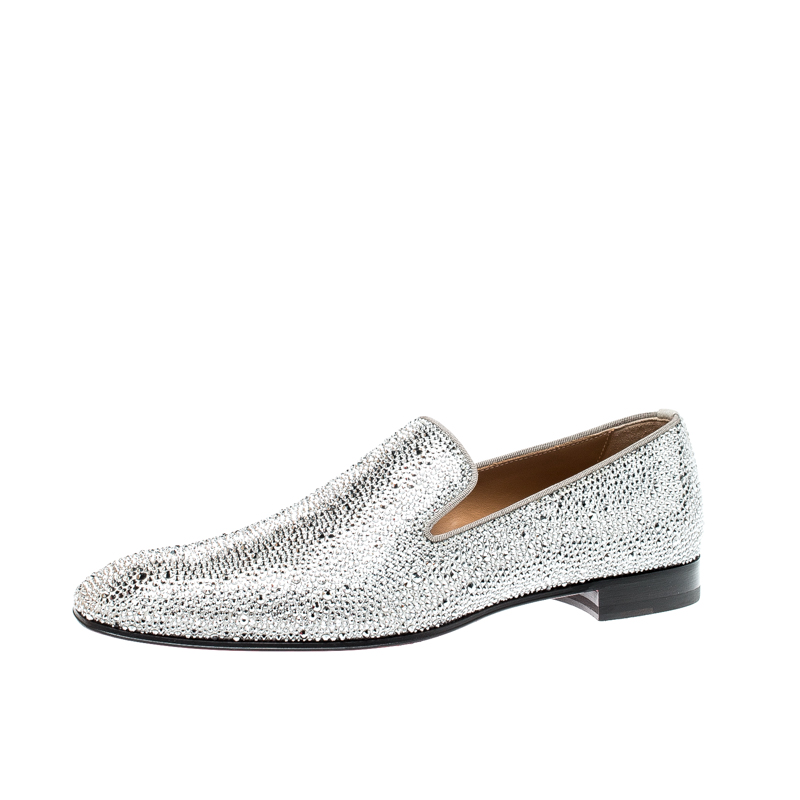best sneakers f3c26 c457a Christian Louboutin Swarovski Dandelion Strass Loafers Size 42