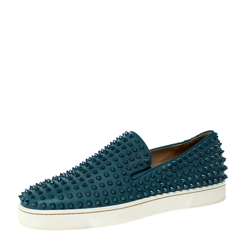 Christian Louboutin Blue Leather Roller