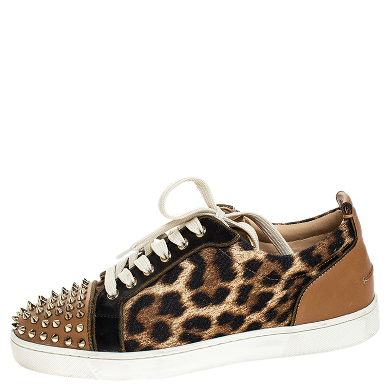 Christian Louboutin Brown Leather And