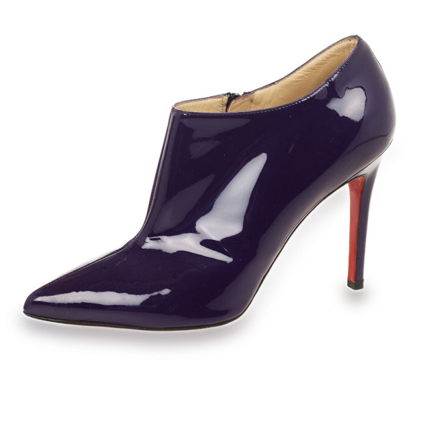 a3a9edf2cce Buy Christian Louboutin Purple Patent  Dahlia  100mm Pointed Toe ...