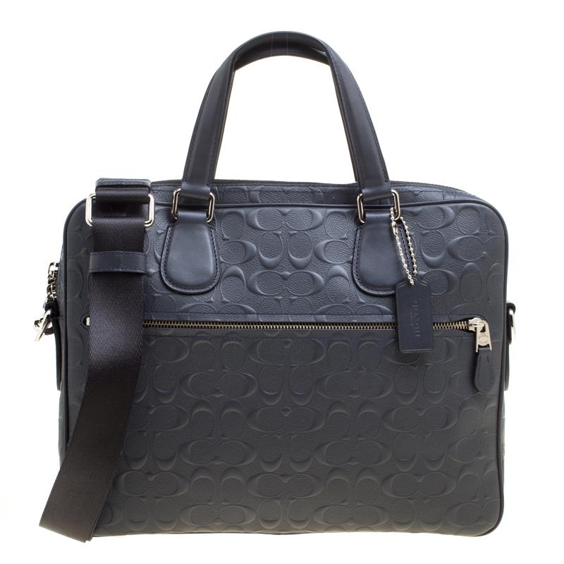 Coated Canvas Hudson Slim Laptop Bag