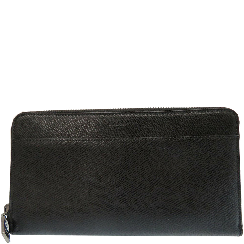 Buy Coach Black Crossgrain Leather Zip Wallet 171700 at best price  a4f870eb38a63