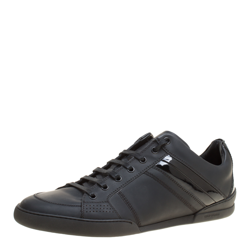 Dior Homme Black Leather Sneakers Size 43