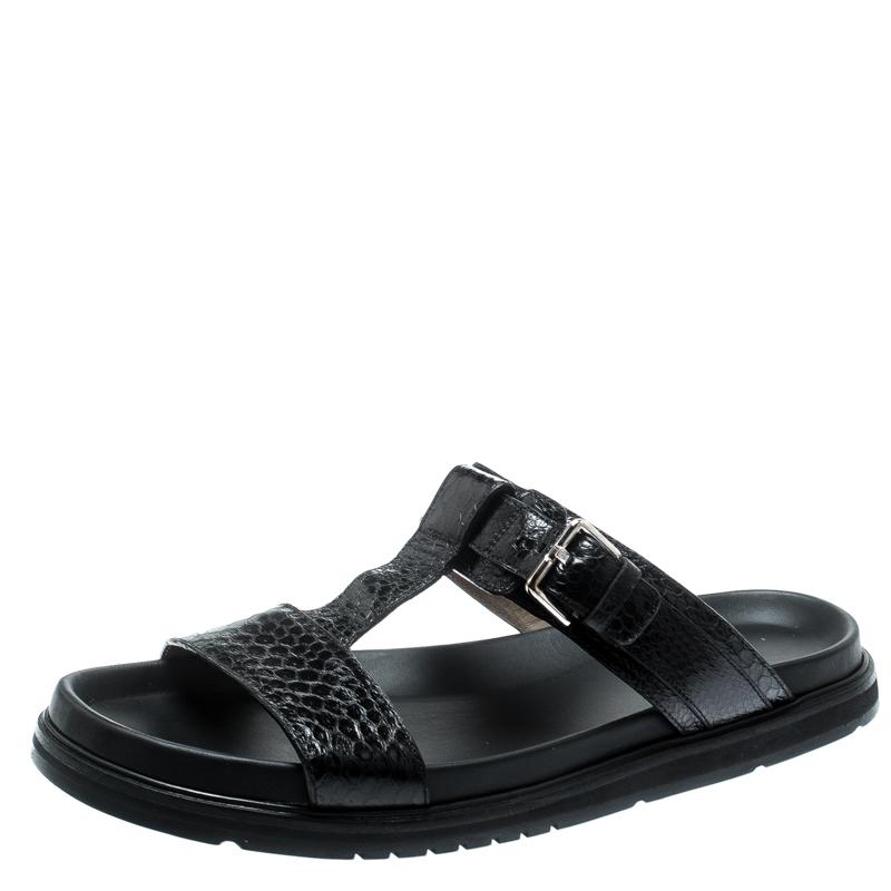 c94cb9e283a0 ... Dior Homme Black Snakeskin Flat Slides Size 43. nextprev. prevnext