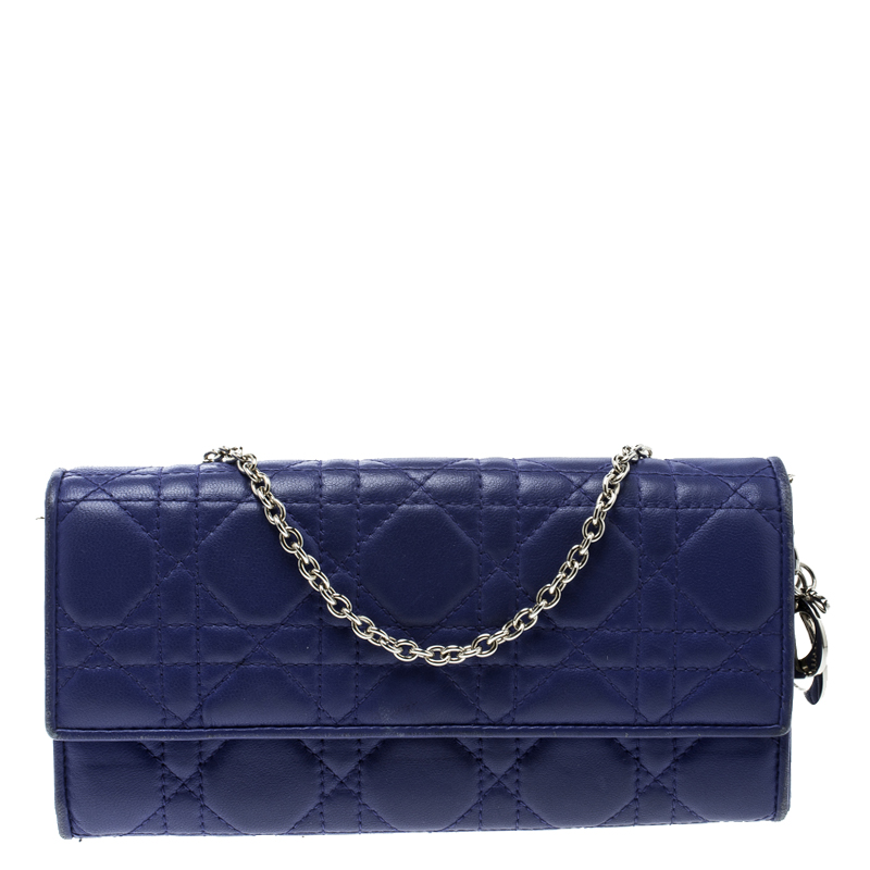 eb2962bf6e2 Buy Dior Purple Cannage Leather Lady Dior Rendez-Vous Wallet 125921 ...
