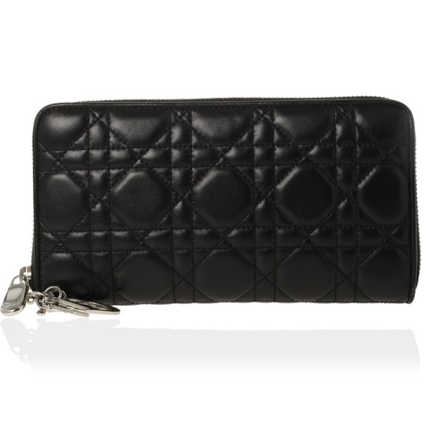 Buy Christian Dior Lady Dior Voyageur Cannage Wallet 29373 at best price  3d45a4927fab9