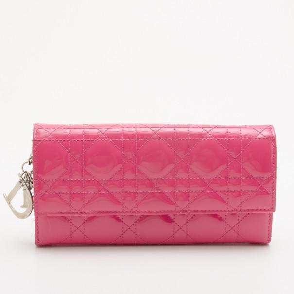 95e6b9f71351 ... Christian Dior Pink Patent Cannage  Lady Dior  Continental Wallet.  nextprev. prevnext