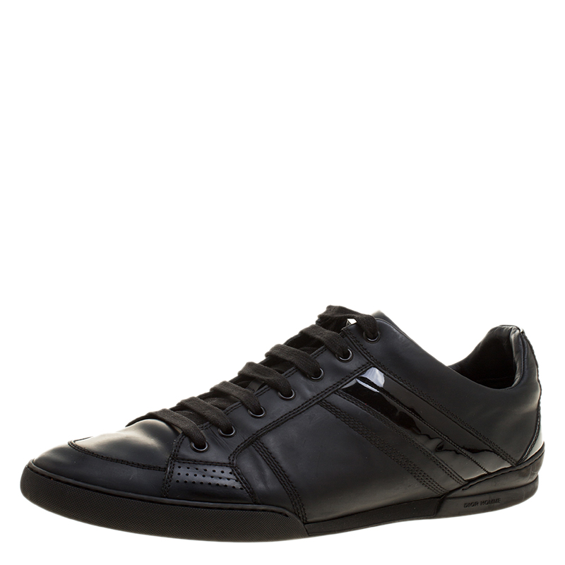 f838035cdff Buy Dior Homme Black Leather Sneakers Size 43.5 132805 at best price ...