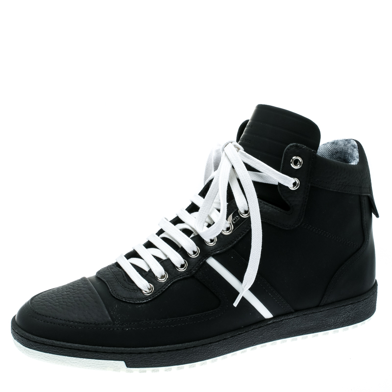 Dior Size Sneakers Leather 5 Top Homme High 42 Monochrome BWreCdxo
