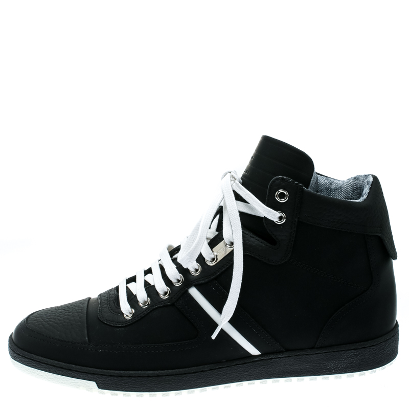 Dior Homme Monochrome Leather High Top