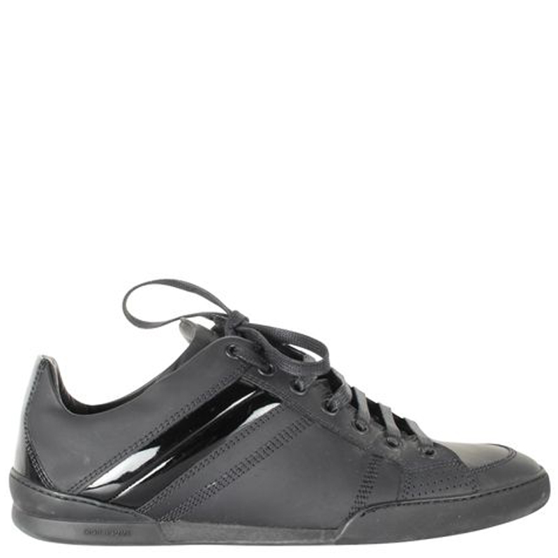 Dior Black Leather Sneakers Size 39