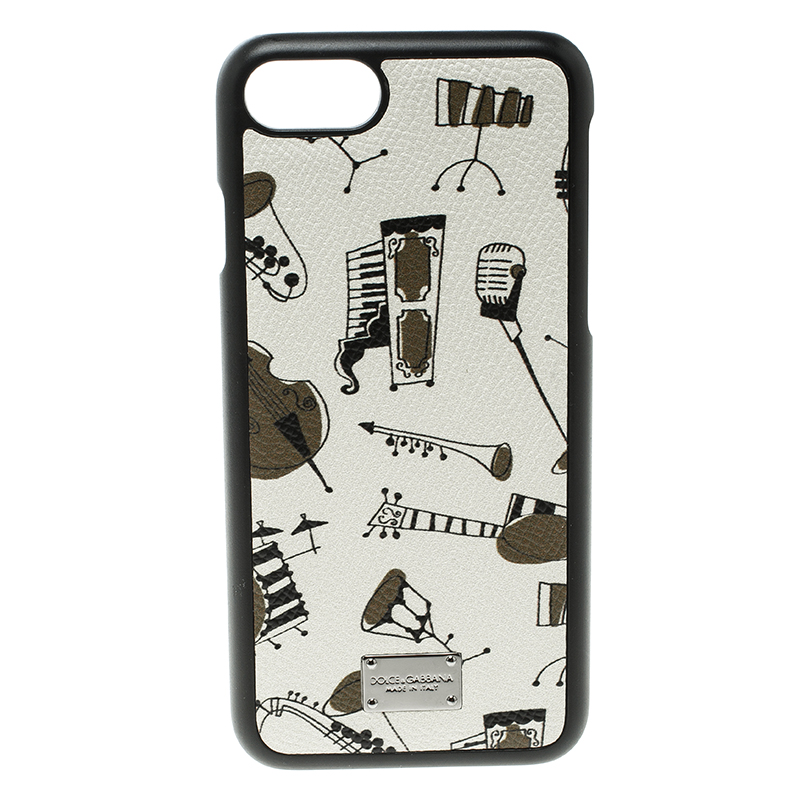 promo code 57b48 9e6ab Dolce and Gabbana Off White Jazz Instruments Iphone 7 Case