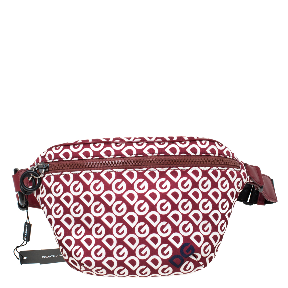 Dolce & Gabbana Multicolor DG Mania Print Nylon Belt Bag