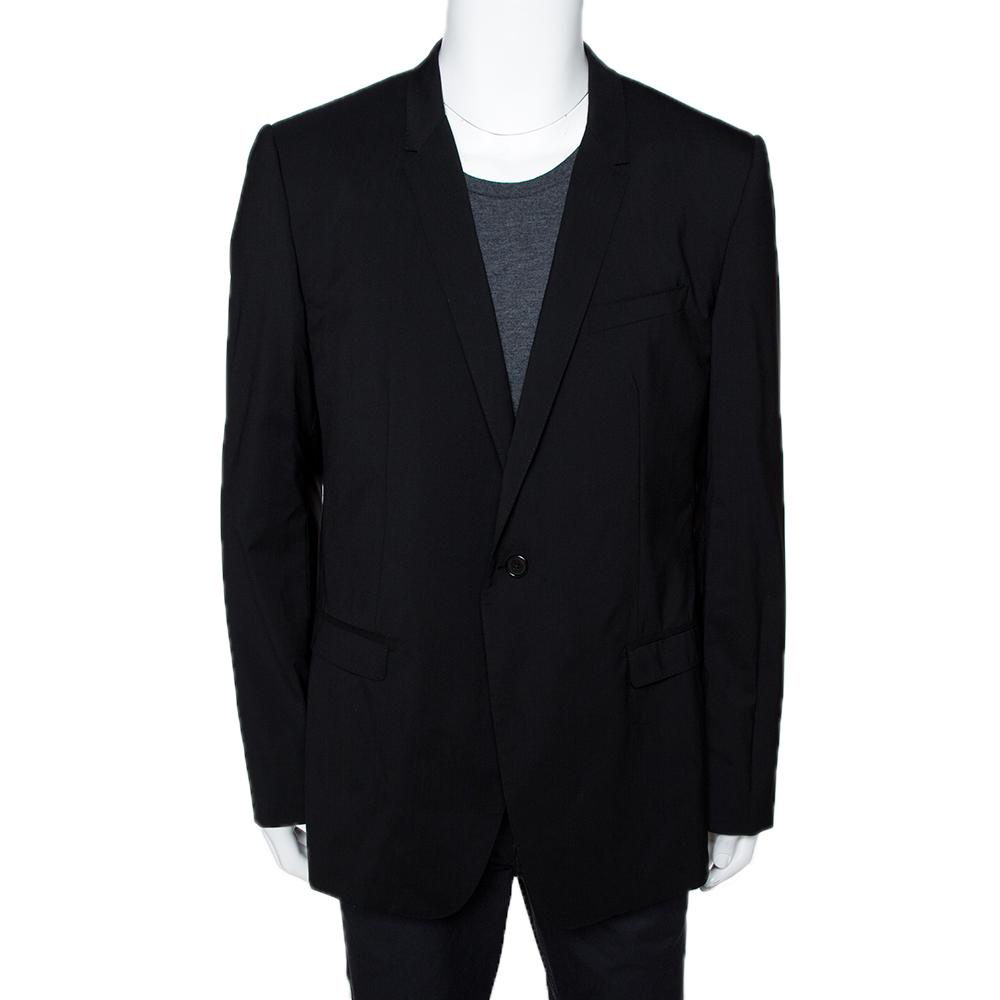 Dolce & Gabbana Black Wool Blend Suit IT 56