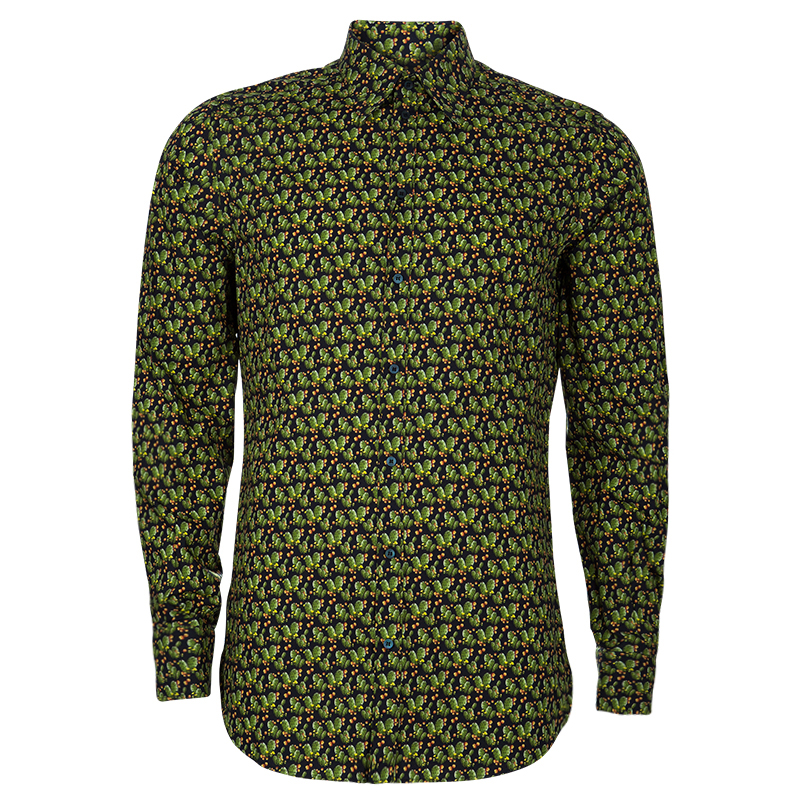 f97288d9 Buy Dolce and Gabbana Men's Green Cactus Shirt L 53013 at best price ...