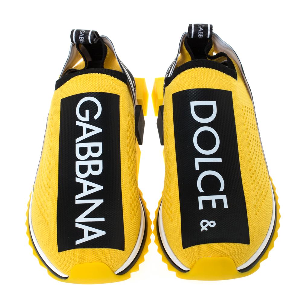 Gabbana Yellow Stretch Jersey Logo