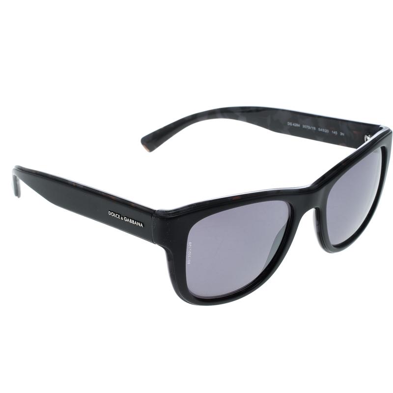 b7d3992cbcd2 Buy Dolce and Gabbana Black DG4284 Wayfarer Sunglasses 149367 at ...
