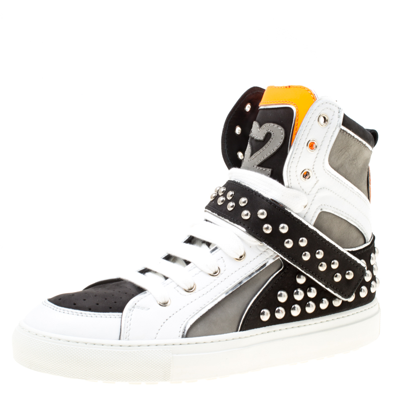 Dsquared2 Tricolor Suede And Leather