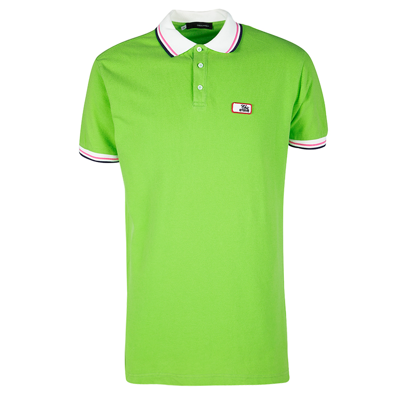 76b46eca ... Dsquared2 Chic Steve Green Honey Comb Knit Polo Shirt XXL. nextprev.  prevnext