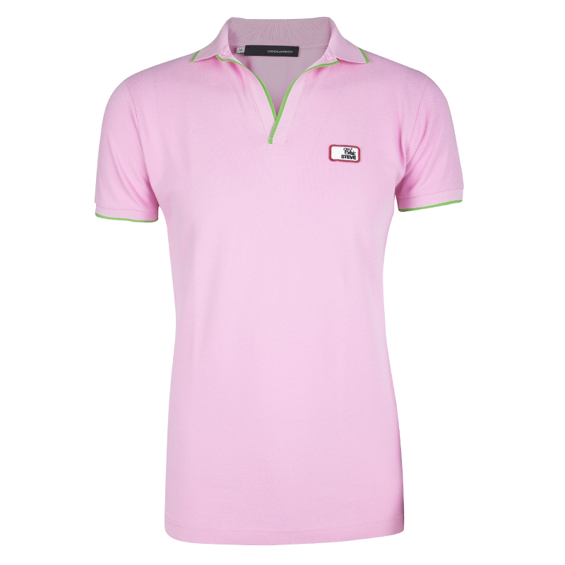 88211865 Buy Dsquared2 Chic Steve Pink Honey Comb Knit Polo T-Shirt M 118083 ...