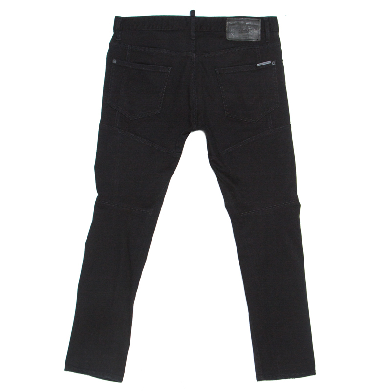 Dsquared2 Noir Denim En Détresse Détail Slim Fit Jeans L