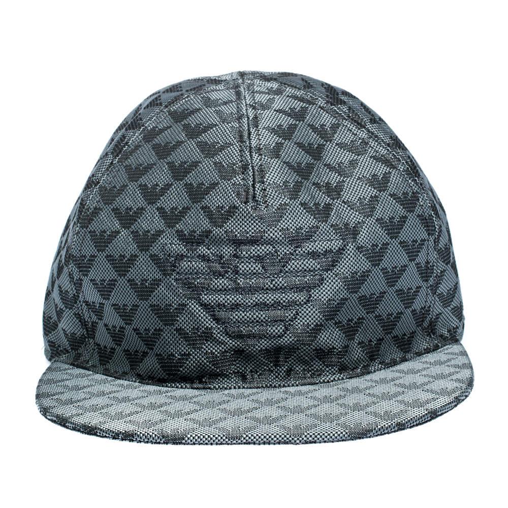 Emporio Armani Slate Grey Logo Detail Baseball Cap M  - buy with discount