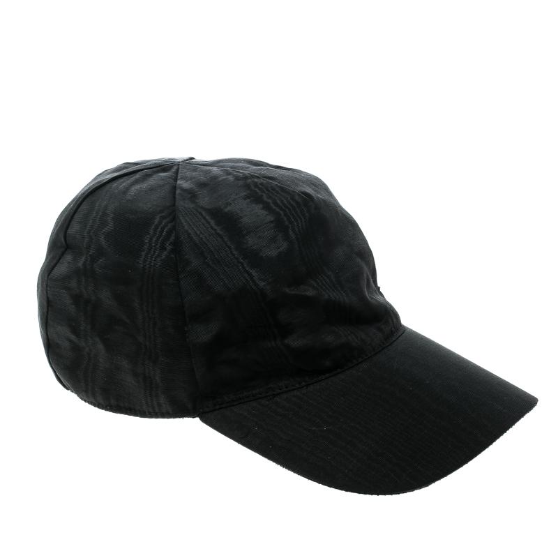 b54854e5 Emporio Armani Black Moire Effect Baseball Cap M