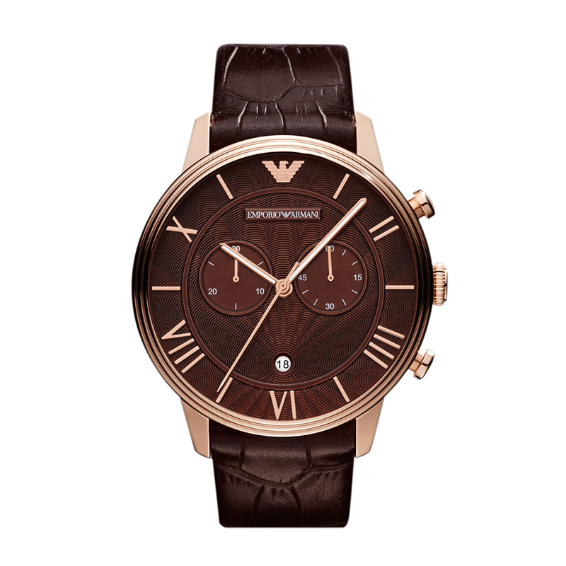 9bb5b243a Buy Emporio Armani Brown Stainless Steel Classic Chronograph AR1609 ...