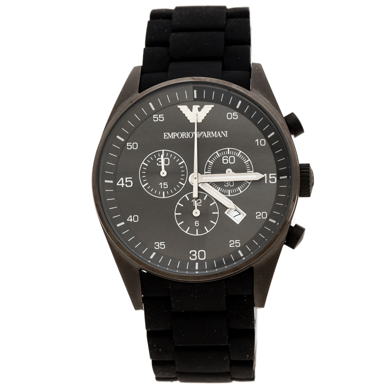 many fashionable various styles superior quality Emporio Armani Black PVD Coated Stainless Steel Sport AR5889 Men's  Wristwatch 43 mm