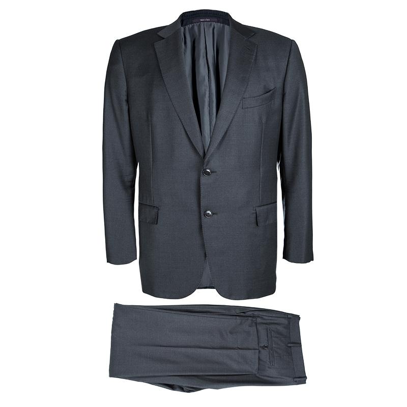 Купить со скидкой Ermenegildo Zegna Grey Trofeo Regular Fit  Suit XXXL
