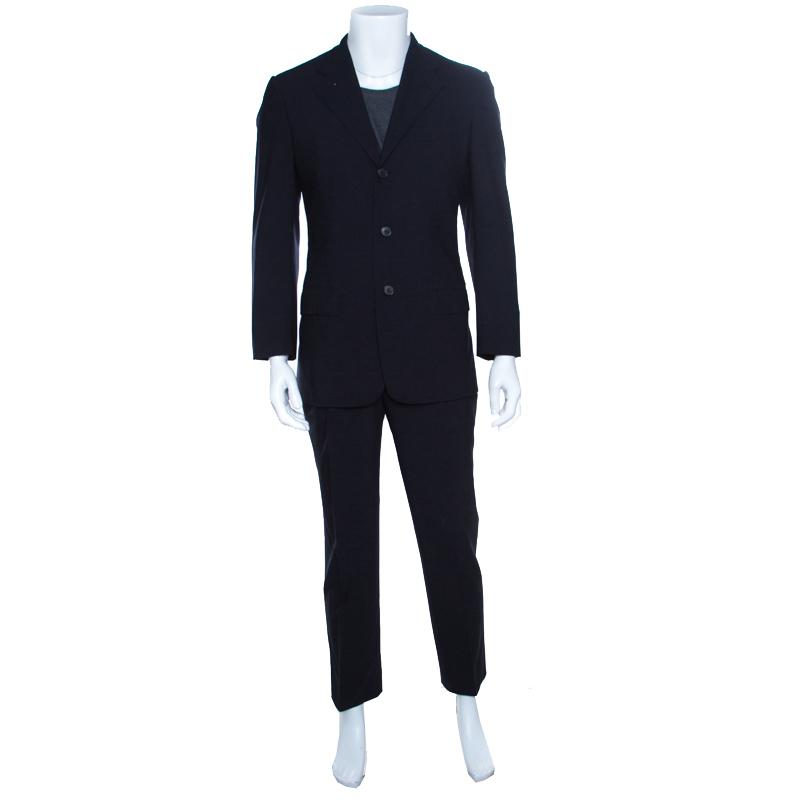 eea812f689 ... Ermenegildo Zegna Napoli Couture Navy Blue Wool Tailored Suit M.  nextprev. prevnext