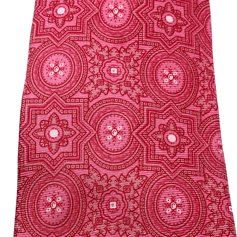 Etro Pink Printed Silk Traditional Tie