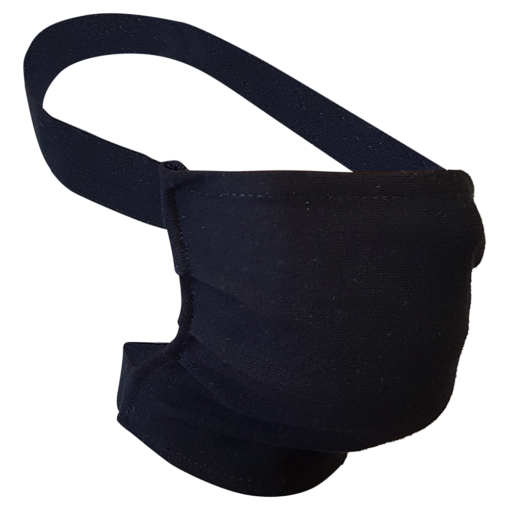 Non-Medical Handmade Black Cotton Face Mask - Pack Of 5 ( Available for UAE Customers Only)