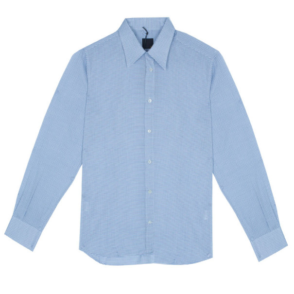 b163716e Buy Fendi Light Blue Check Shirt EU40 4491 at best price   TLC