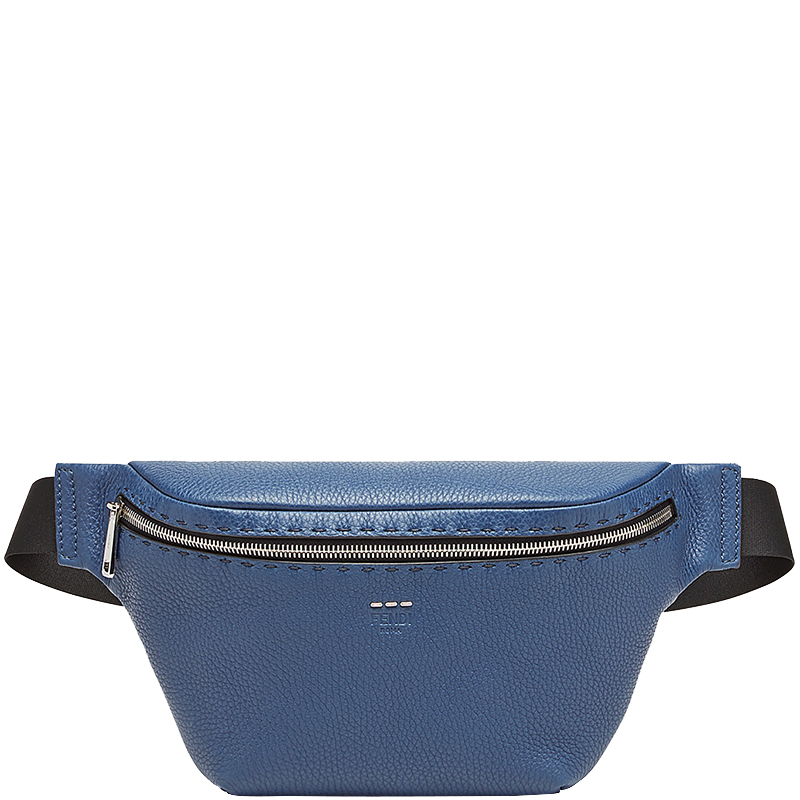 0888bc92cd Fendi Blue Romano Leather Belt Bag
