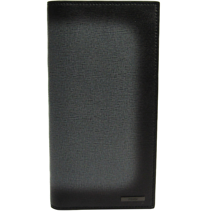 9b25105c3d Fendi Black Leather Long Bifold Wallet