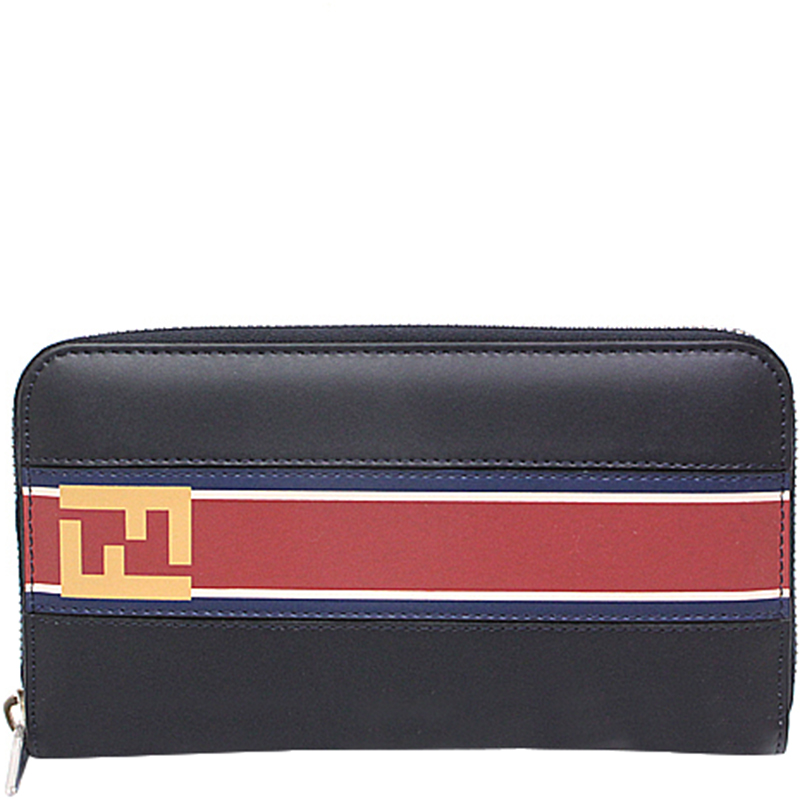 f83d8e36b4ae Buy Fendi Black Leather Zip Around Wallet 174454 at best price