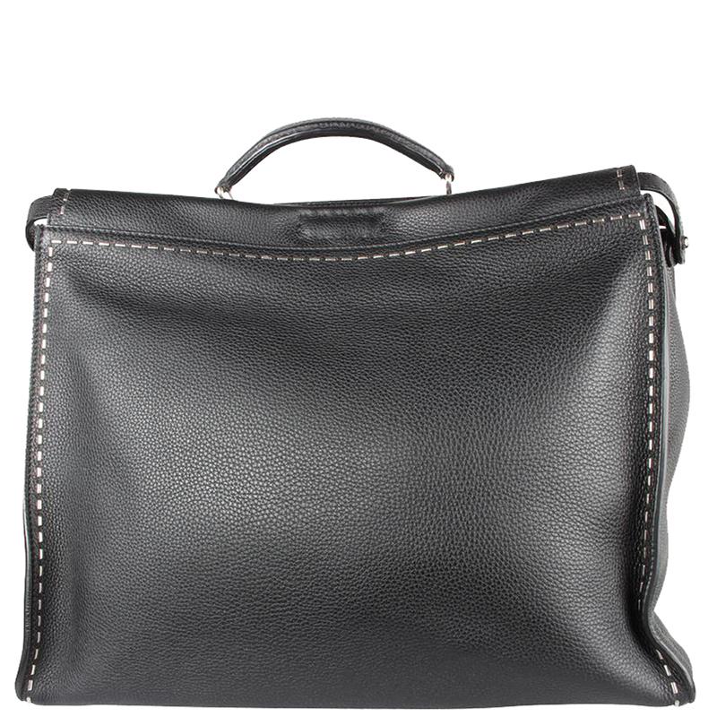 Fendi Black Leather Work Bag Tlc